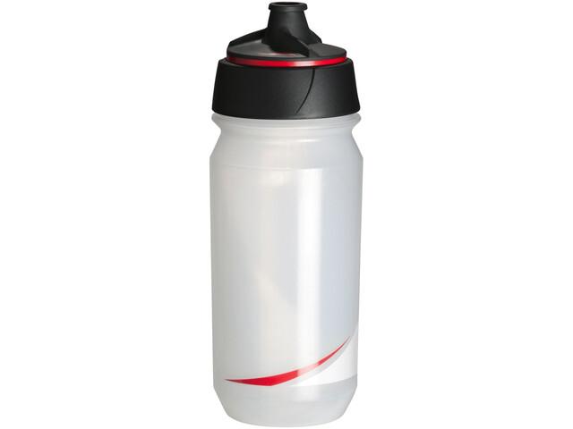 Tacx Shanti Twist Trinkflasche 500ml transparent/rot